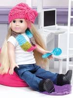 On the Go Fashions for 18 inch Dolls Crochet Book Annie's 871395 DISCONTINUED